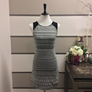 Sanctuary Black and White Pattern Dress